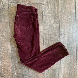 J Brand Super Skinny Velvet Lava Jeans